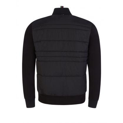 Black Mixed Media Bomber Jacket