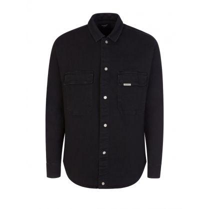 Black Denim Overshirt