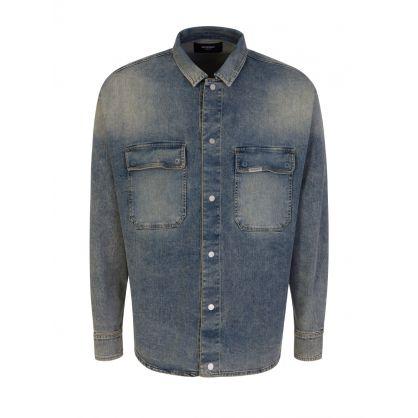 Stonewashed Blue Denim Overshirt