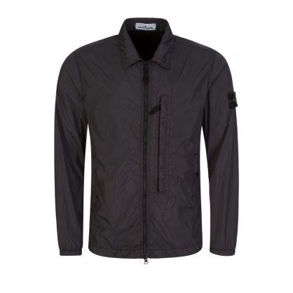 Black Crinkle Reps Overshirt