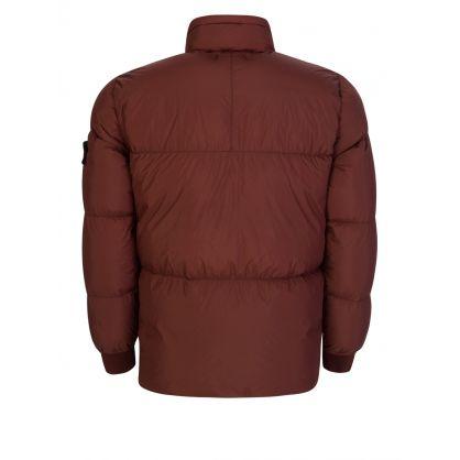 Dark Burgundy Crinkle Reps Down Puffer Jacket