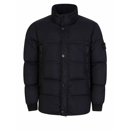 Navy Crinkle Rep Down Puff Jacket