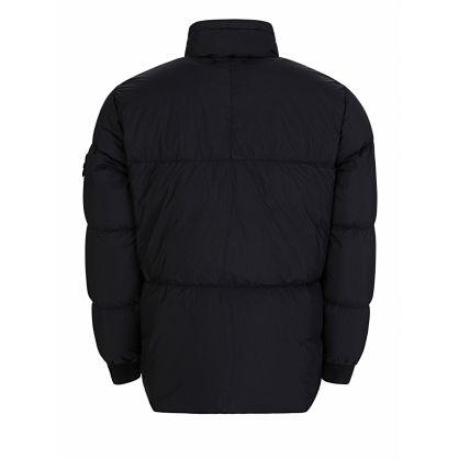 Navy Crinkle Rep Down Puff Jacket