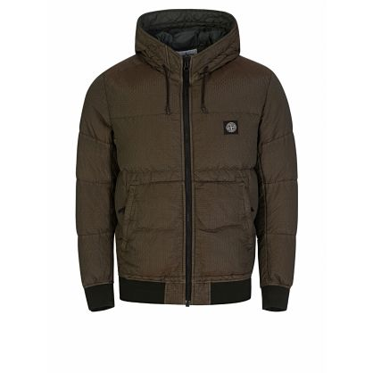 Green Poly-Colour Frame Down-TC Hooded Jacket