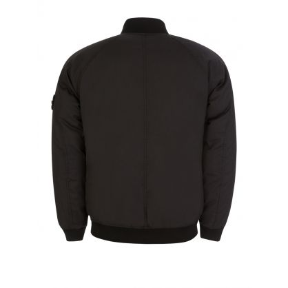 Black Ghost Down Bomber Jacket