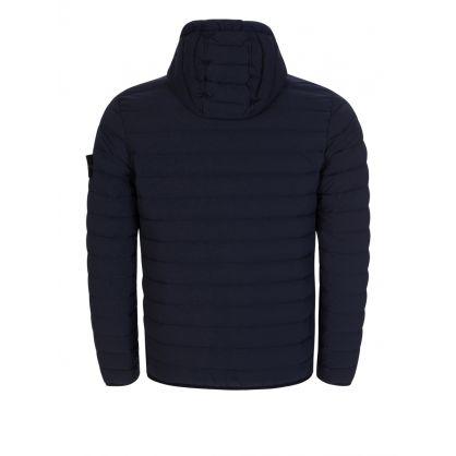 Navy Loom Woven Down Chambers Stretch Nylon-TC Jacket