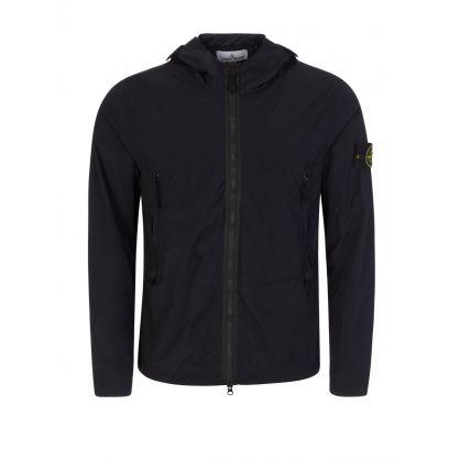 Black Skin Touch Nylon-TC Jacket