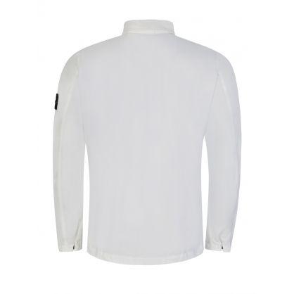 White Chest Pocket Overshirt
