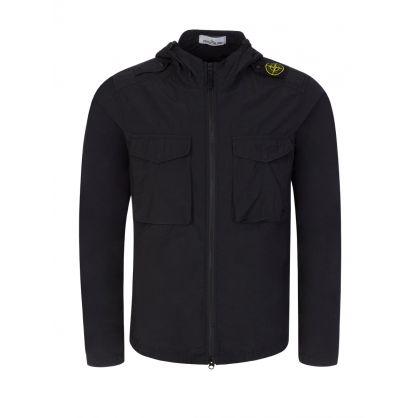 Black Hooded Overshirt
