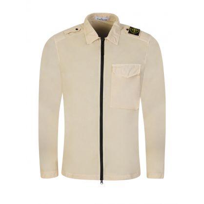 Cream Chest Pocket Overshirt