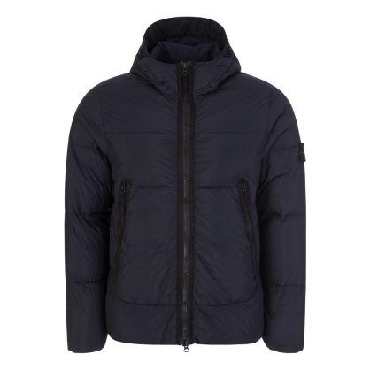 Navy Blue Crinkle Reps NY Down-TC Coat