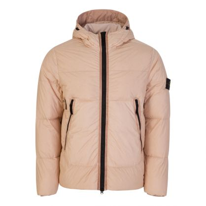 Pink Garment Dyed Crinkle Reps NY Down Jacket