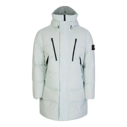 Green Garment-Dyed Crinkle Reps NY Down Coat