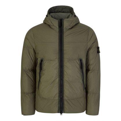 Green Crinkle Reps NY Down-TC Coat