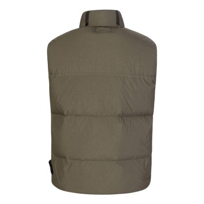 Green Crinkle Reps NY Down Gilet