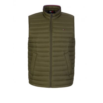Green Packable Down Gilet
