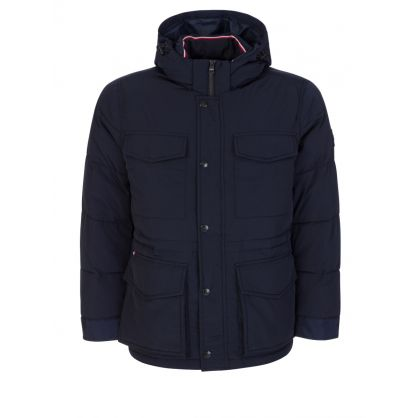 Navy Rope Dye Padded Airfield Jacket