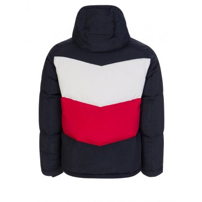 Navy Chevron Colourblock Jacket