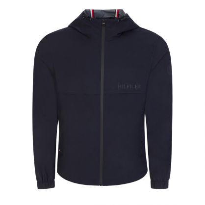 Navy Technical Hooded Jacket