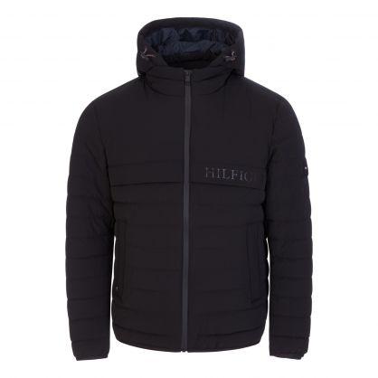 Black Lightly Padded Hooded Jacket