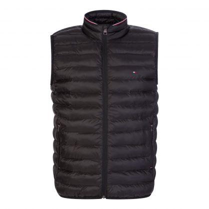 Black Packable Padded Vest