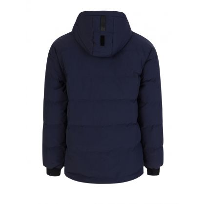 Navy Drop Sleeve Hooded Puffer Jacket