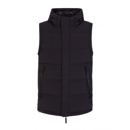 Black 20K Puffer Hooded Gilet