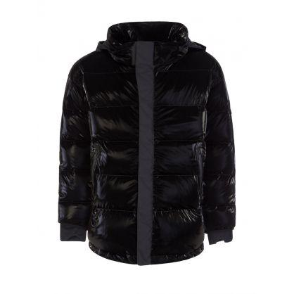 Black Gloss Puffer Ski Jacket