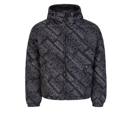 Black All-Over Logo Jacket