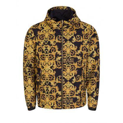 Black/Gold Reversible Print Jacket