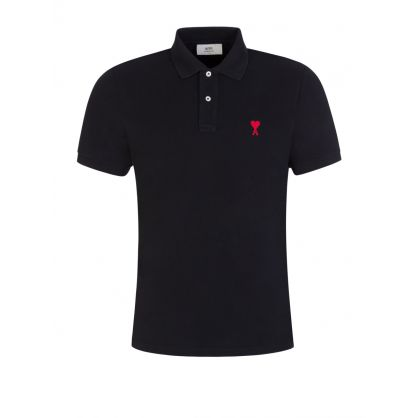 AMI De Coeur Black Polo Shirt