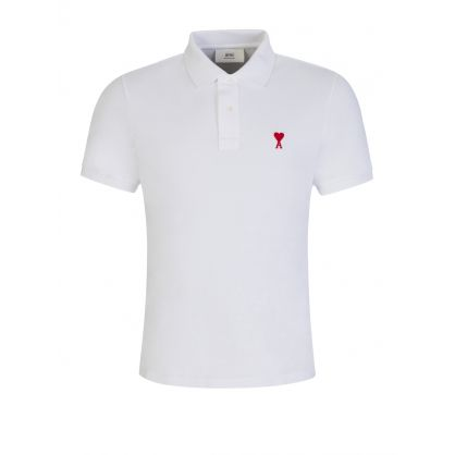 AMI De Coeur White Polo Shirt
