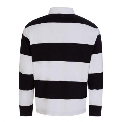 Ami de Coeur Black/White Striped Polo Shirt