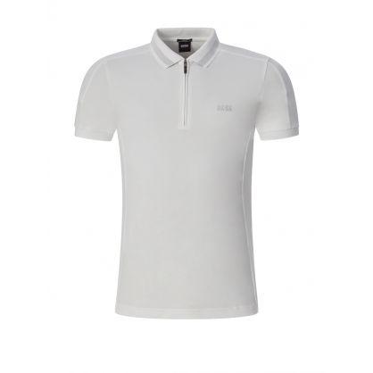 White Athleisure Philix Polo Shirt