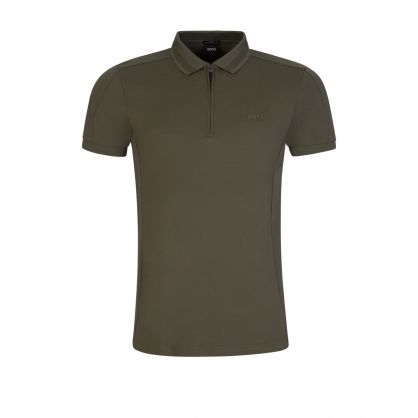 Green Athleisure Slim-Fit Philix Polo Shirt