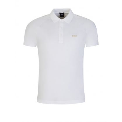 White Paul Gold-Tone Logo Polo Shirt
