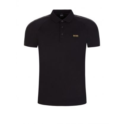 Black Paul Gold-Tone Logo Polo Shirt