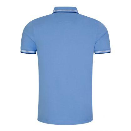 Blue Athleisure Slim-Fit Paul Curved Logo Polo Shirt