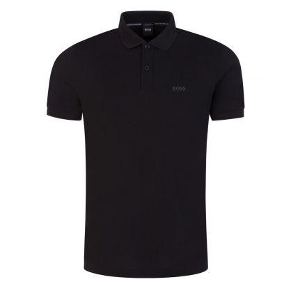 Black Athleisure Piro Polo Shirt