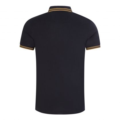 Medium Blue Paul Curved Logo Polo Shirt
