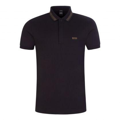 Black Paddy Pixel Polo Shirt