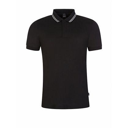 Black Slim-Fit Penrose 29 Tipped Polo Shirt