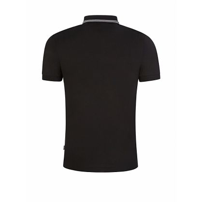 Menswear Black Slim-Fit Penrose 29 Tipped Polo Shirt