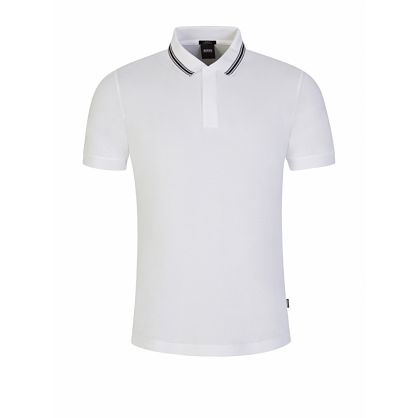 White Slim-Fit Penrose 29 Tipped Polo Shirt