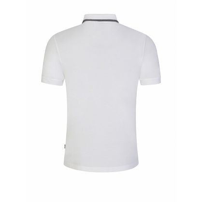 Menswear White Slim-Fit Penrose 29 Tipped Polo Shirt