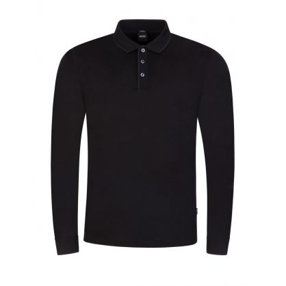 Black Slim-Fit Paver 15 Polo Shirt