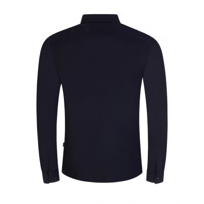 Navy Slim-Fit Paver 17 Long-Sleeve Polo Shirt