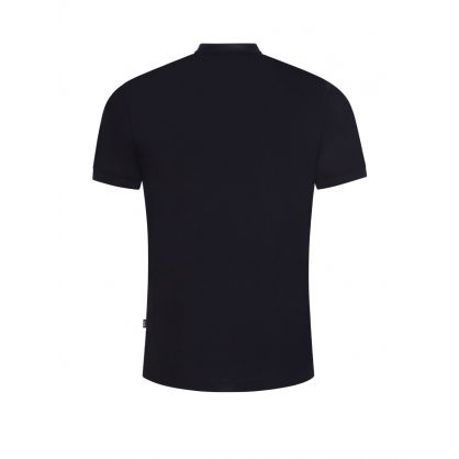 Navy Henley-Collar Pratt 05 Polo Shirt