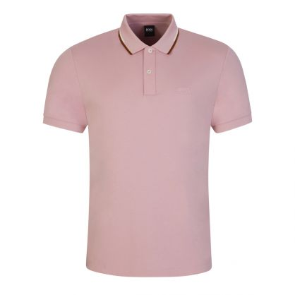 Pink Striped Collar Parlay 104 Polo Shirt