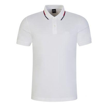 White Striped Collar Parlay 104 Polo Shirt
